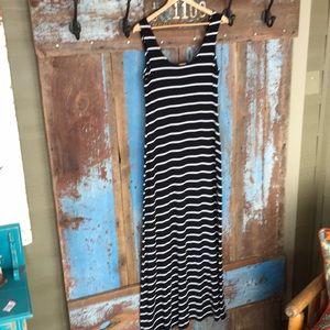 Merona Dresses - Merona Black White Striped Maxi Dress
